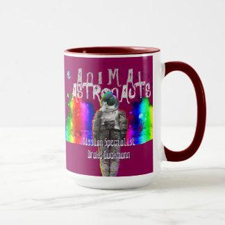 Rainbow Galaxy Duck Animal Astronauts Mug