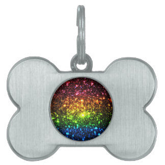 Rainbow Galaxy Pet ID Tag