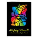 Rainbow Ganesha Greeting Cards