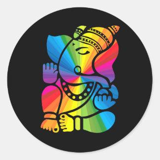 Rainbow Ganesha Sticker
