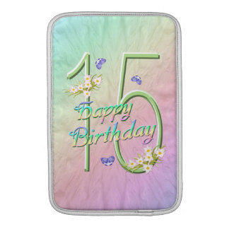 Rainbow Garden 15th Birthday Sleeve For MacBook Air