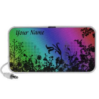 Rainbow Garden personalised doodle Speaker