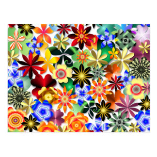 Rainbow Garden Postcard