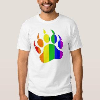 Rainbow Gay Bear Paw T-Shirt