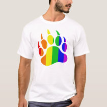 Rainbow Gay Bear Paw T-Shirt