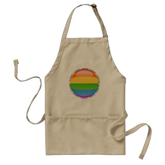 Rainbow Gay Lesbian Pride Bubble Flag Adult Apron