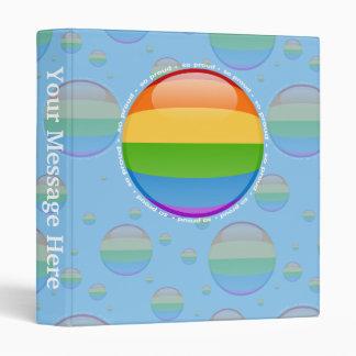 Rainbow Gay Lesbian Pride Bubble Flag Binder