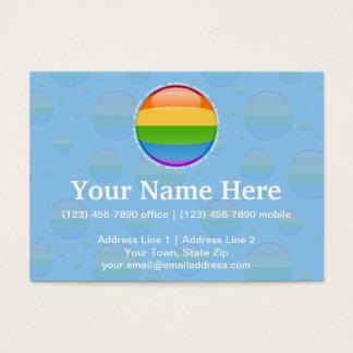 Rainbow Gay Lesbian Pride Bubble Flag Business Card