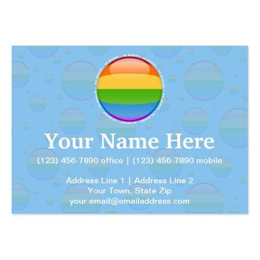 Rainbow Gay Lesbian Pride Bubble Flag Business Cards