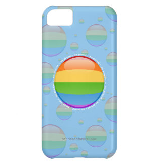 Rainbow Gay Lesbian Pride Bubble Flag iPhone 5C Cover