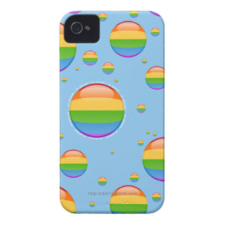Rainbow Gay Lesbian Pride Bubble Flag Case-Mate iPhone 4 Cases
