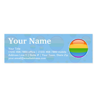 Rainbow Gay Lesbian Pride Bubble Flag Double-Sided Mini Business Cards (Pack Of 20)