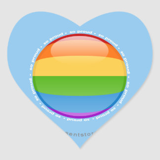 Rainbow Gay Lesbian Pride Bubble Flag Heart Sticker
