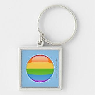 Rainbow Gay Lesbian Pride Bubble Flag Keychain