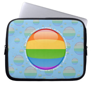 Rainbow Gay Lesbian Pride Bubble Flag Laptop Sleeves