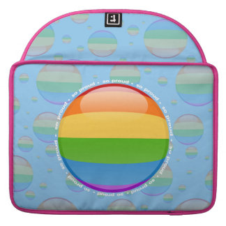 Rainbow Gay Lesbian Pride Bubble Flag Sleeves For MacBook Pro