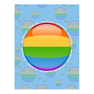 Rainbow Gay Lesbian Pride Bubble Flag Postcard