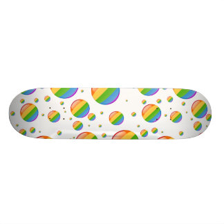 Rainbow Gay Lesbian Pride Bubble Flag Skateboard Deck