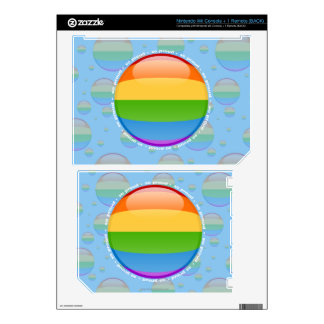 Rainbow Gay Lesbian Pride Bubble Flag Skins For Wii