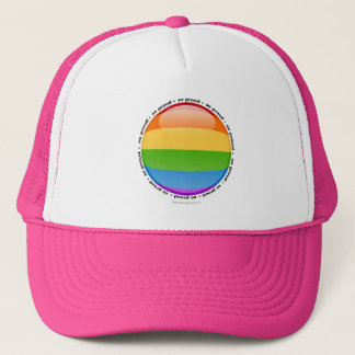 Rainbow Gay Lesbian Pride Bubble Flag Trucker Hat