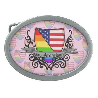 Rainbow Gay Lesbian Pride Shield Flag Belt Buckles