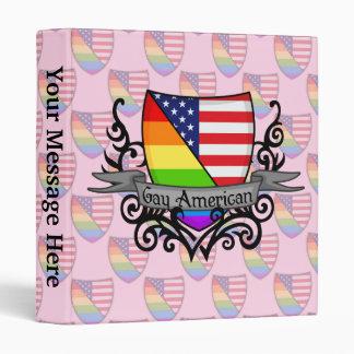 Rainbow Gay Lesbian Pride Shield Flag 3 Ring Binder