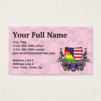 Rainbow Gay Lesbian Pride Shield Flag Business Card