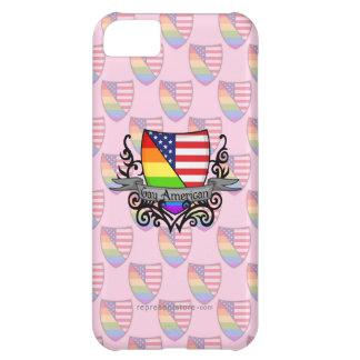 Rainbow Gay Lesbian Pride Shield Flag iPhone 5C Case