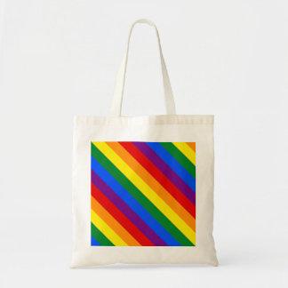 Rainbow Gay Lesbian Trans Queer LGBTQ Pride Flag Budget Tote Bag