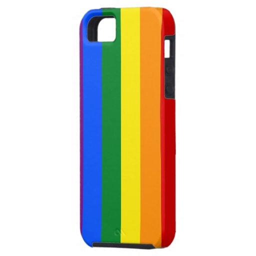 Rainbow Gay Lesbian Trans Queer LGBTQ Pride Flag iPhone 5 Case