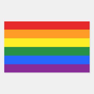 Rainbow Gay Lesbian Trans Queer LGBTQ Pride Flag Rectangular Sticker