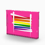 """Rainbow Gay Pride Brush Flag Award<br><div class=""""desc"""">Rainbow gay pride flag illustration. Create your own personalized gifts from these custom products. Use our design templates to personalize it or add your text for a unique present. When you make your own customized presents with our cool designs, you won&#39;t need more gift ideas. They will know through the...</div>"""