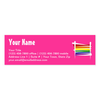 Rainbow Gay Pride Brush Flag Business Card Templates