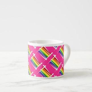 Rainbow Gay Pride Brush Flag Espresso Cup
