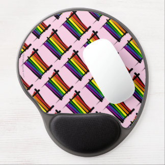 Rainbow Gay Pride Brush Flag Gel Mouse Pad