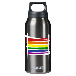 Rainbow Gay Pride Brush Flag Insulated Water Bottle
