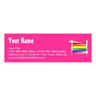 Rainbow Gay Pride Brush Flag Mini Business Card