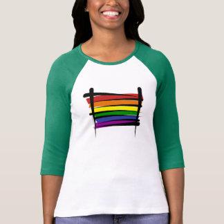 Rainbow Gay Pride Brush Flag T-Shirt