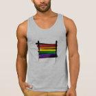 Rainbow Gay Pride Brush Flag Tank Top