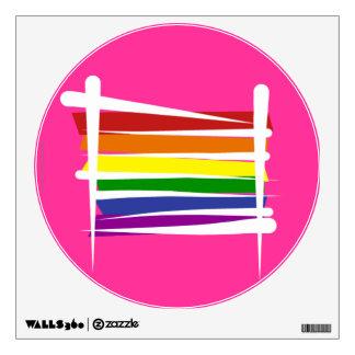 Rainbow Gay Pride Brush Flag Wall Sticker