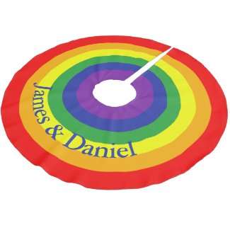 Rainbow Gay Pride Colorful Personalized Brushed Polyester Tree Skirt