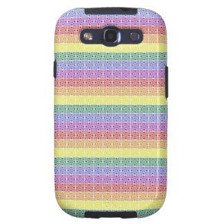 Rainbow Gay Pride Flag Abstract Galaxy SIII Covers