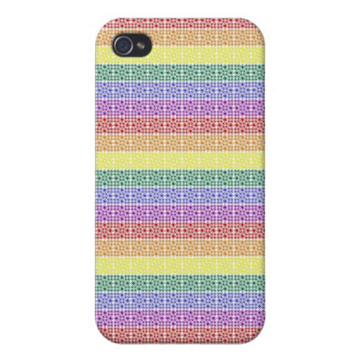 Rainbow Gay Pride Flag Abstract Case For iPhone 4
