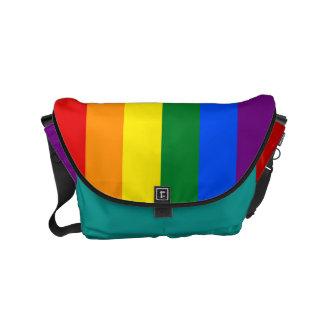 RAINBOW GAY PRIDE FLAG SMALL MESSENGER BAG