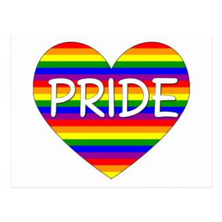 Rainbow Gay Pride Heart Gifts and Tees Postcard