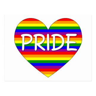 Rainbow Gay Pride Heart Gifts and Tees Postcard