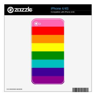 Rainbow Gay Pride LGBT Original 8 Stripes Flag Skin For iPhone 4