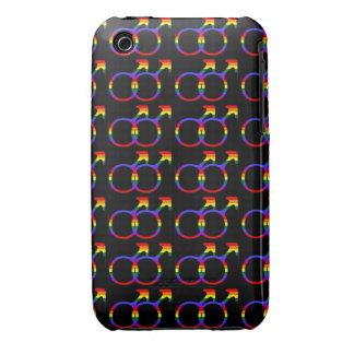 Rainbow Gay Pride Male Symbols Case-Mate iPhone 3 Cases
