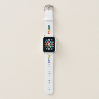 Rainbow Gay Pride On White Apple Watch Band