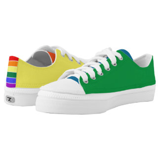 Rainbow Gay Pride Panel Colored Printed Shoes